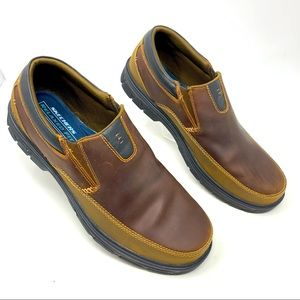 Skechers Brown Leather Comfort Slip On Shoes 14
